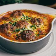 焗烤蕃茄義式手工肉丸