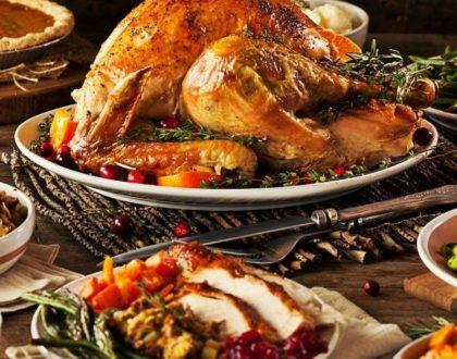 感恩節火雞大餐 Thanksgiving meal
