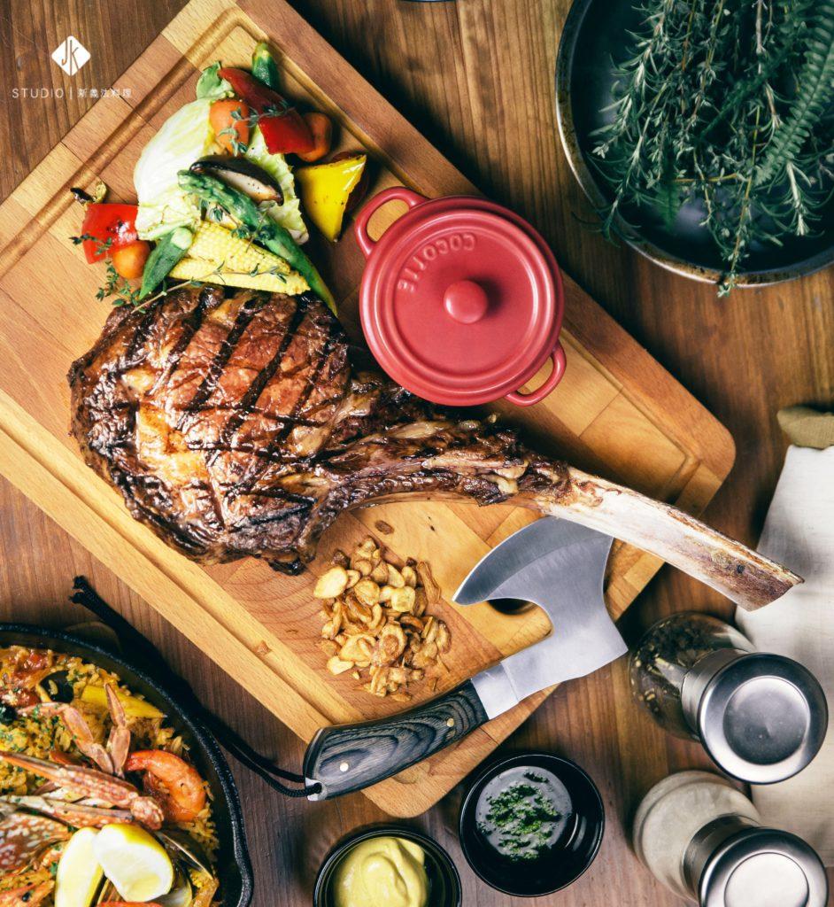 美國極黑牛戰斧牛排42盎司 JK STUDIO新義法料理 (台北信義)